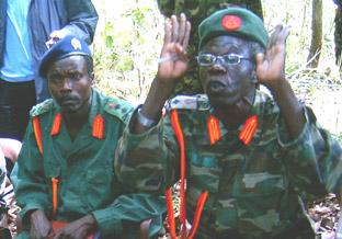 "Angeblich Joseph Kony, Anführer der ""LRA"""
