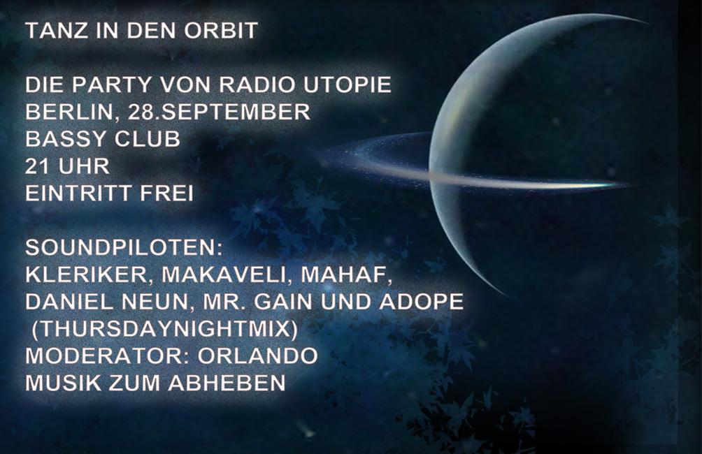 Die Party von Radio Utopie - Tanz in den Orbit
