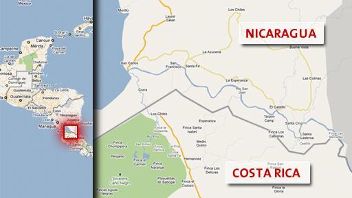 Pazifik-Atlantik-Kanal am Rio San Juan: Google Maps als ...