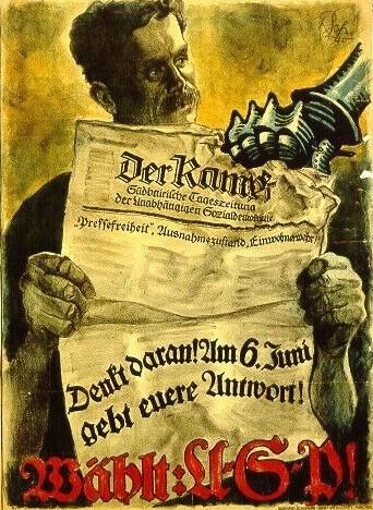 USPD Plakat von 1920