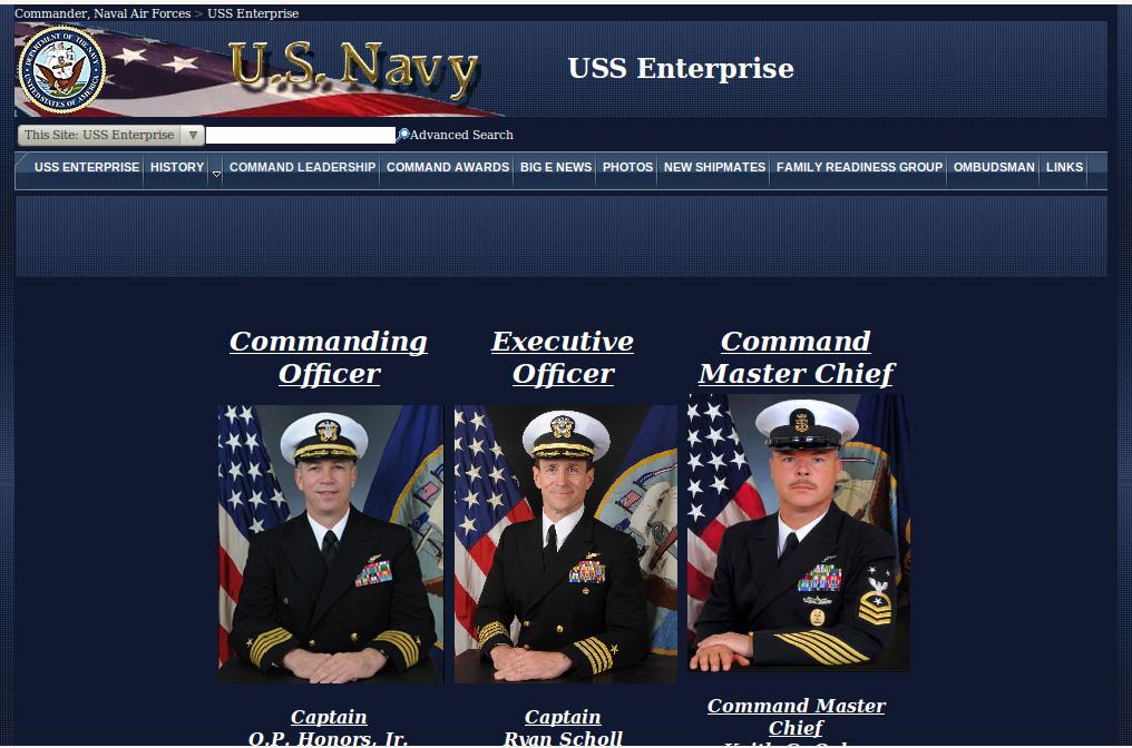 Commander der USS Enterprise