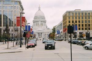 Kapitol in Madison, Hauptstadt des US-Bundesstaates Wisconsin