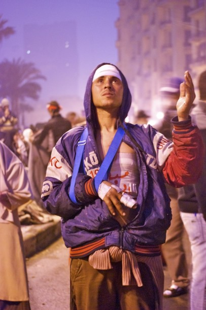 """Broken bones, but not broken spirit."" - Ägypten, Kairo, Tahrir Platz"
