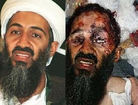 Original und gefaelschtes Foto des toten Osama Bin Laden