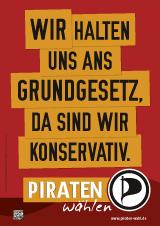 Wahlplakat der Piratenpartei NRW