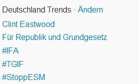 Twitter Trending Topics: #StoppESM und Für Republik und Grundgesetz