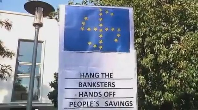 """Proteste in Zypern gegen die """"Europäische Union"""""""