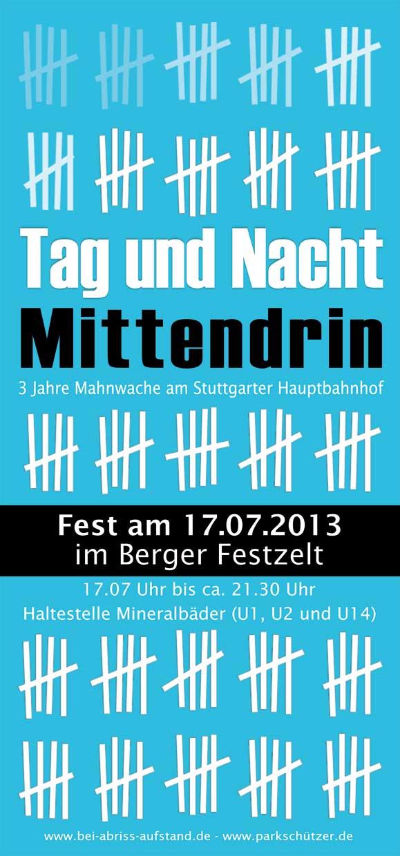 Stuttgarter Fest zum Jahrestag am 17. Juli 2013