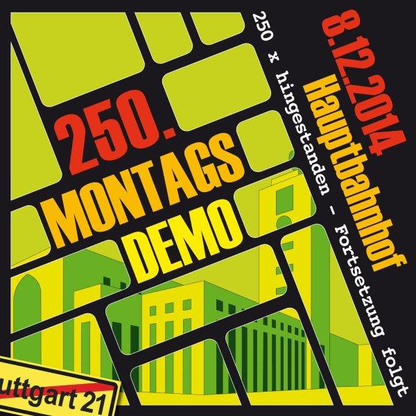 08_12_2014__250te Montagsdemo gegen Programm Stuttgart 21