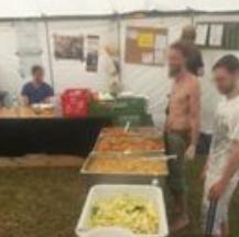 Küche im G7-Protestcamp