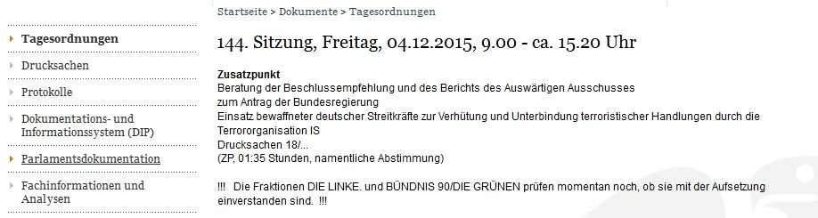 01_12_2015__Screenshot Tagesordnung Bundestag für den 04_12_2015