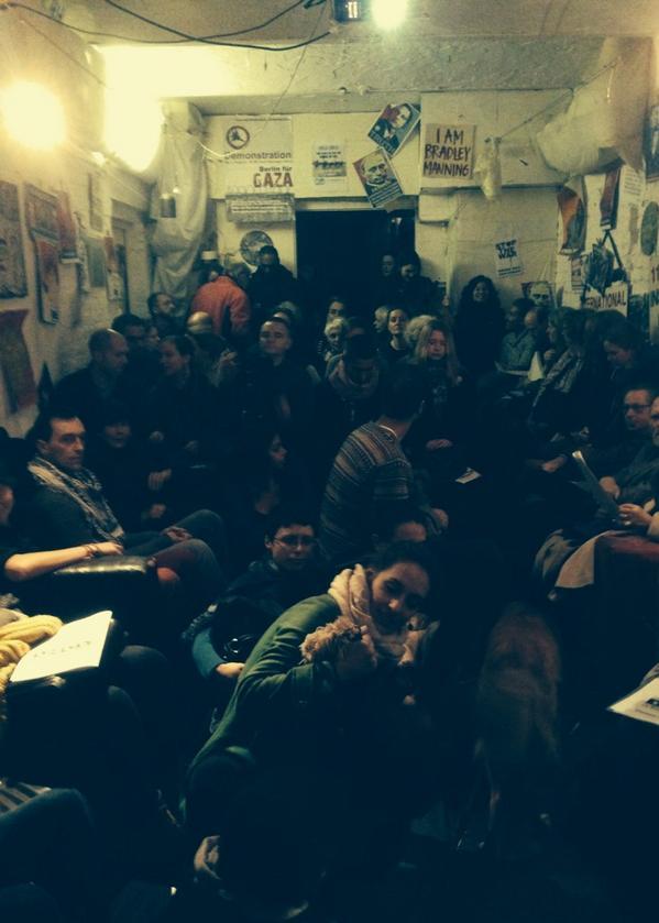 Coop Cafe in Berlin-Mitte, 9 November 2014, Veranstaltung mit David Sheen und Max Blumenthal