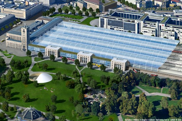 Modell einer Sanierung des Kopfbahnhofs Stuttgart ohne S21