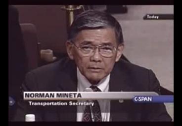 Der am 11. September 2001 amtierende U.S.-Transportminister Norman Mineta